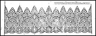 easy saree border design drawing,Best of saree border pencil sketch images in 2020,saree border patterns free