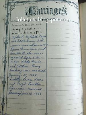 Marriages in Walter Davis Bible https://jollettetc.blogspot.com
