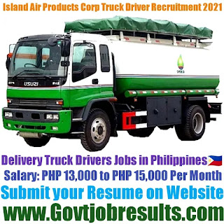 Island Air Products Corporation Delivery Truck Driver Recruitment 2021-22