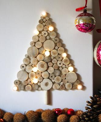 Pohon Natal dari Potongan Kayu