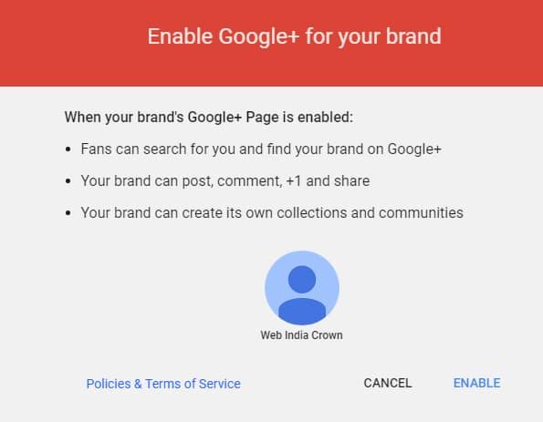 Brand page को Enable करें