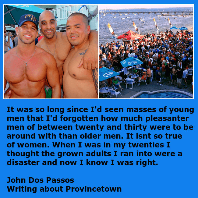 Gay revelers at the Boat Slip in Provincetown, MA.
