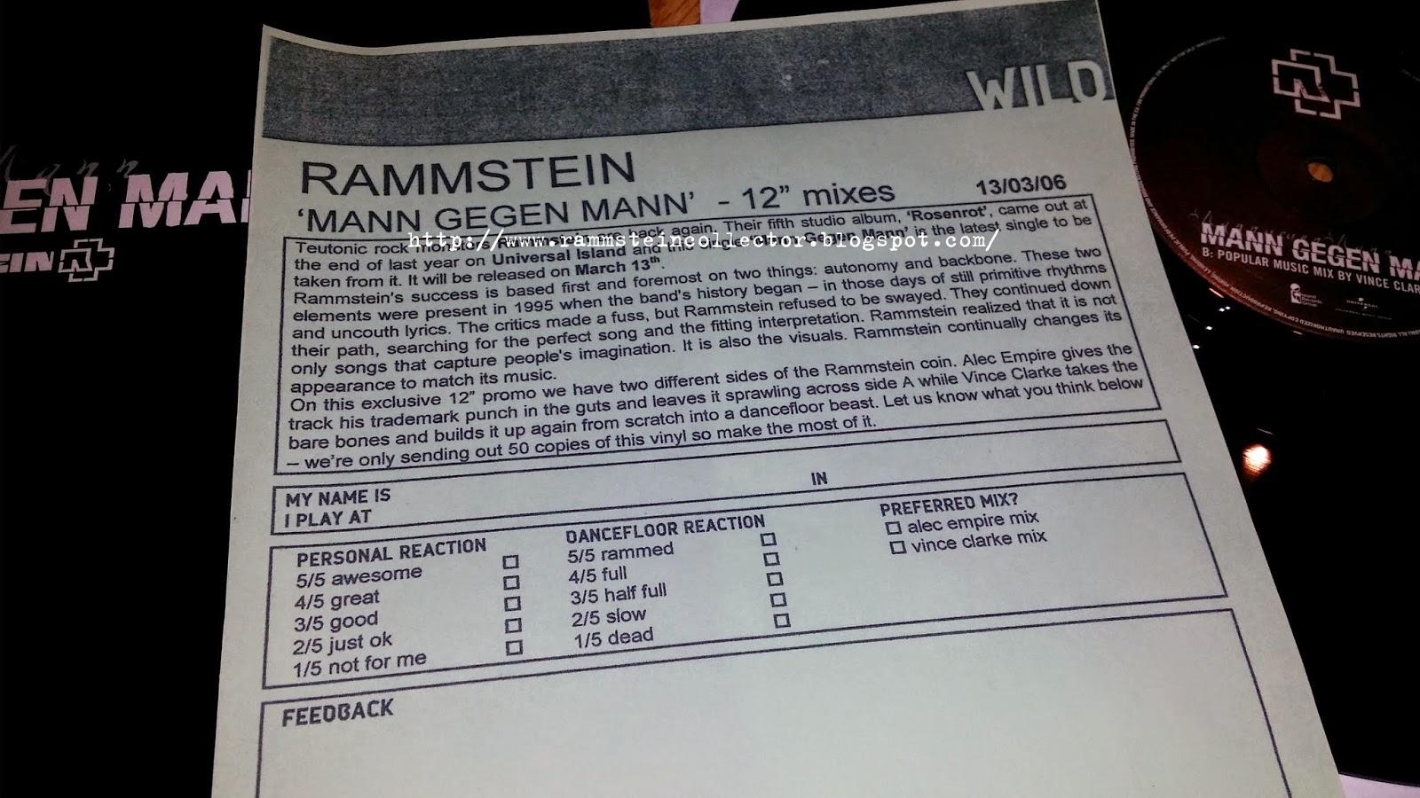 Rammstein mann gegen mann single