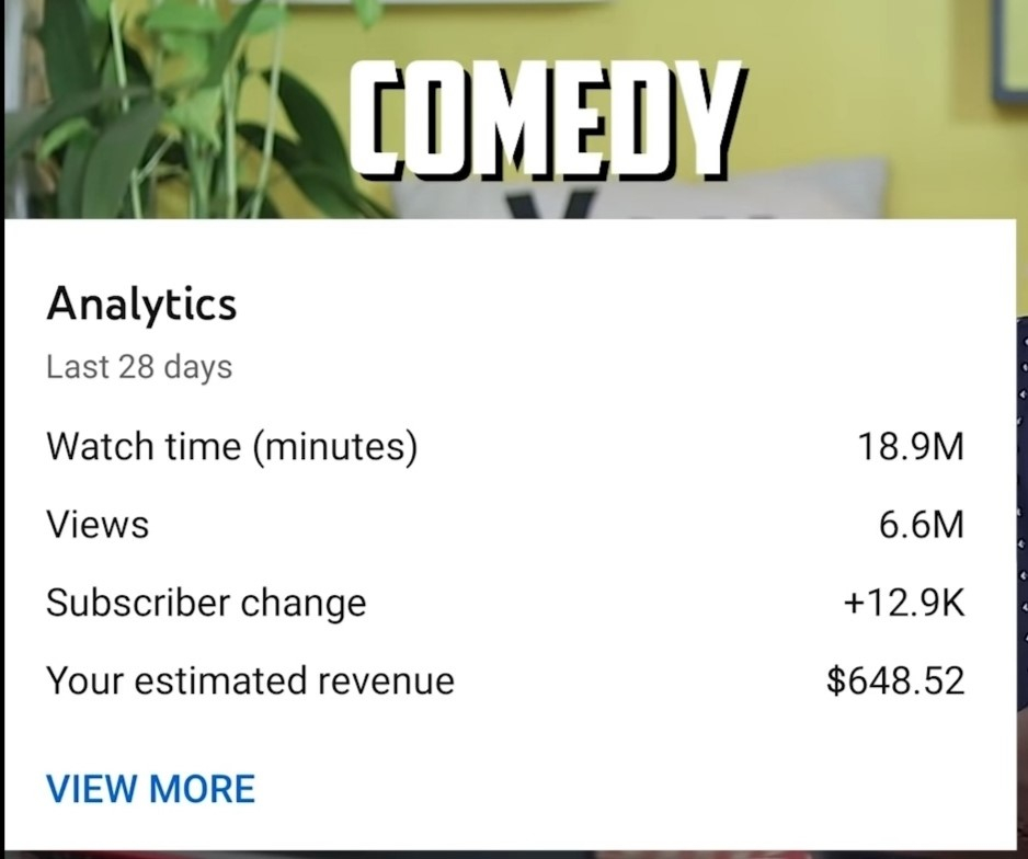 youtube-income-on-comedy-channel