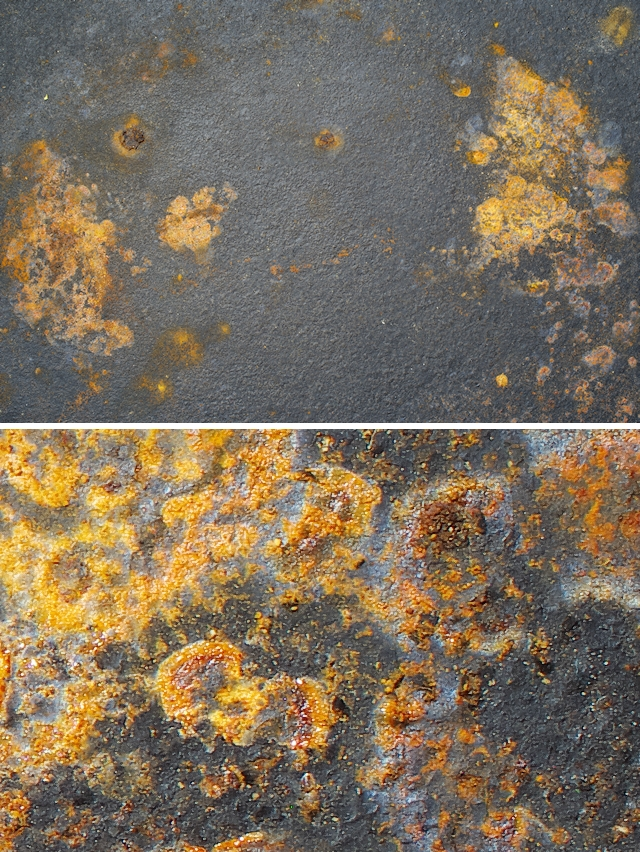 Cast iron rust texture