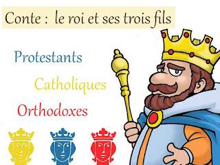Conte : le roi et ses trois fils (Œcuménisme)