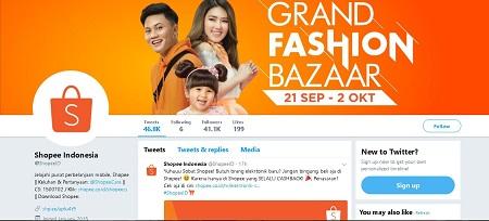 Akun Twitter Shopee Indonesia