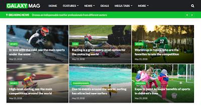 GalaxgMag - Responsive News & Magazine Blogger Template - Web Sahayata