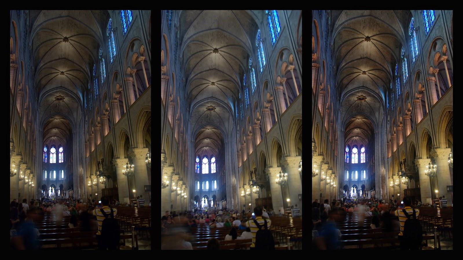 Nave central de la Catedral de Notre Dame, París