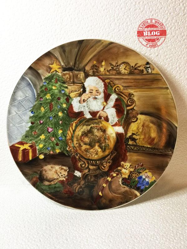 Piatti Per Natale 2019.Voglio Il Mondo A Colori Piatto Babbo Natale 3