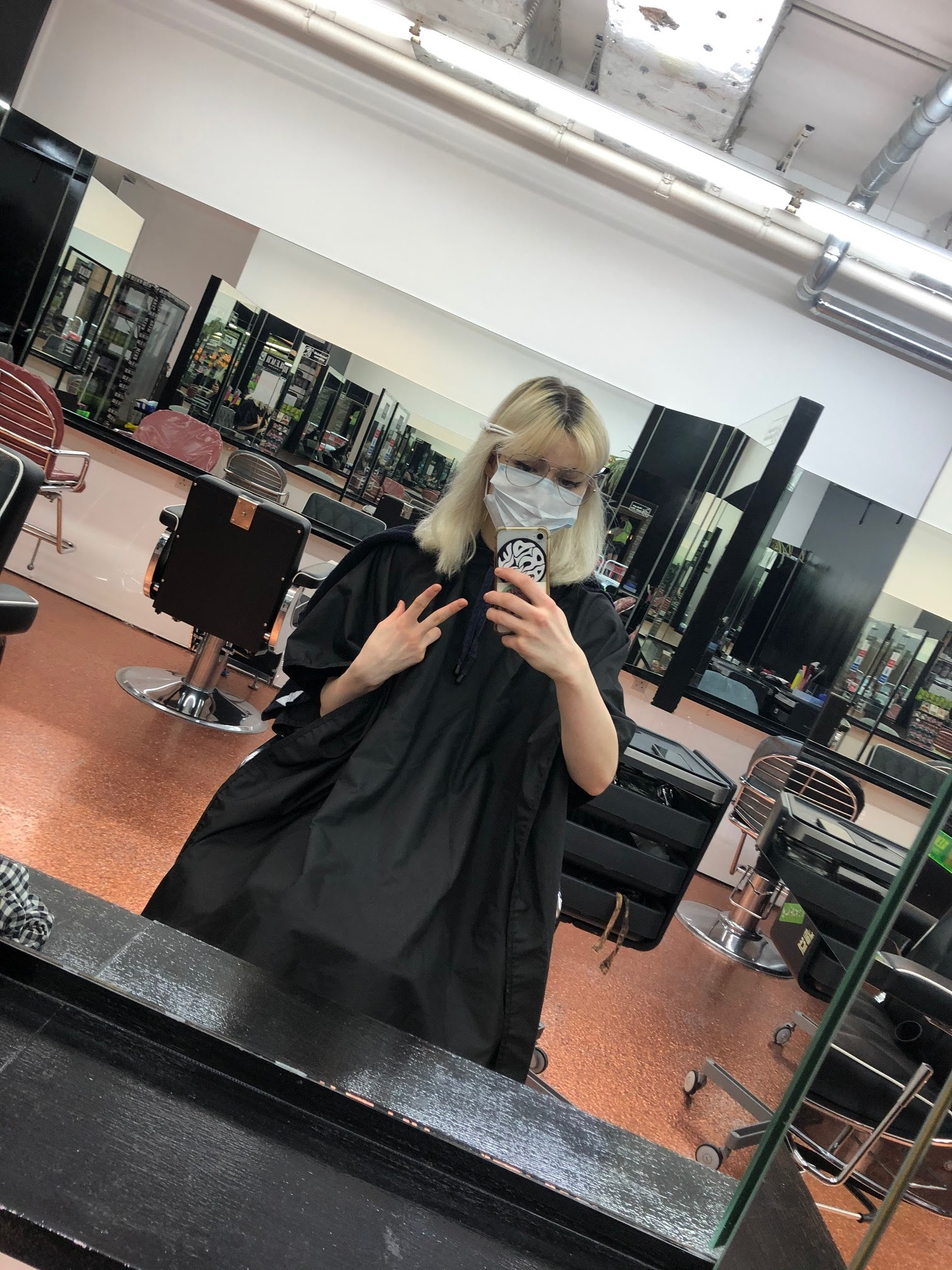 me at Bleach before getting my hair done- my hair was a platinum blonde and I had about an inch of dark brown roots