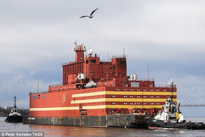The worlds first nuclear power plant ship.