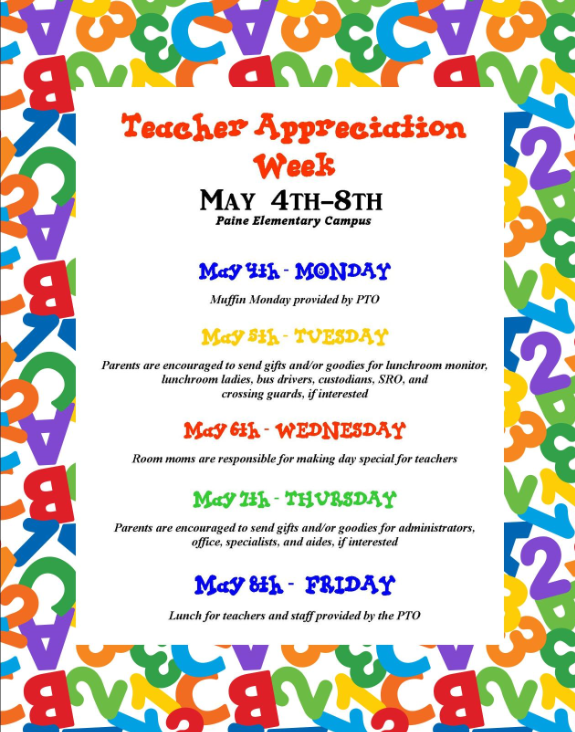 Teacher%2BAppreciation%2BWeek%2B2015%2BFlyer Teacher To Parent End Of Year Letter Template on the end of year party parent letter, first day of school teacher parent letter, end of a letter,