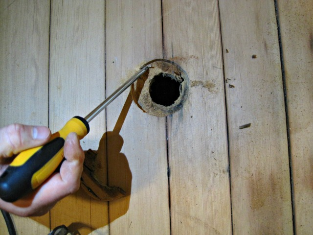 How To Repair A Hole In A Hardwood Floor The Speckled Goat How To