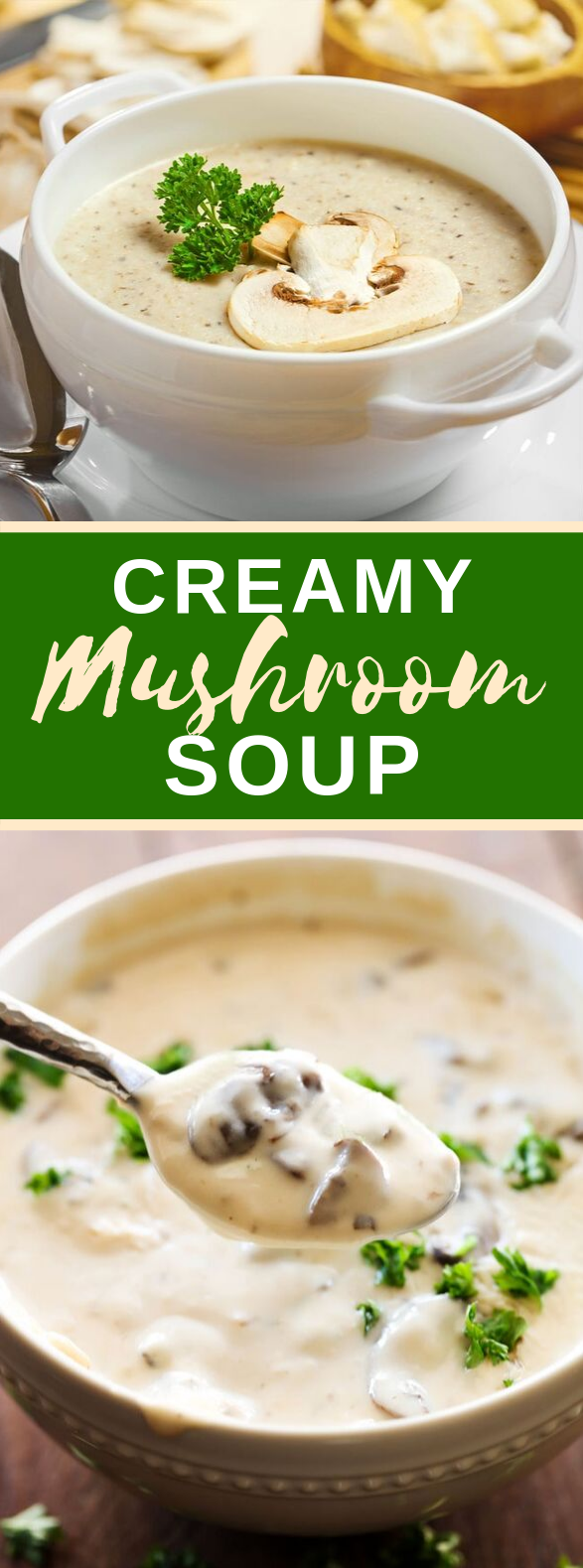 Creamy Mushroom Soup #vegetarian #lunch