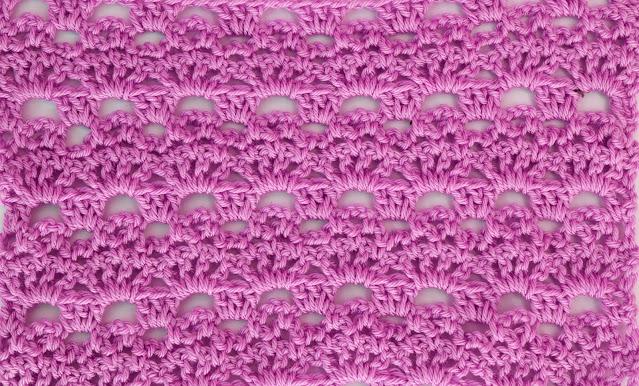 4 -Crochet Imagenes Puntada de abanicos y cadenas a crochet y ganchillo por Majovel Crochet