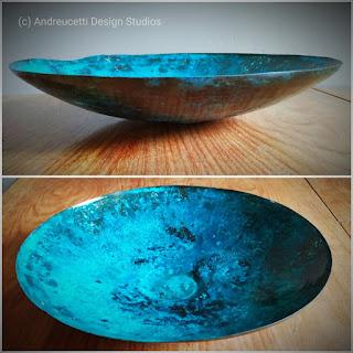 Copper bowl, andreucetti design studio, abstract irish artist