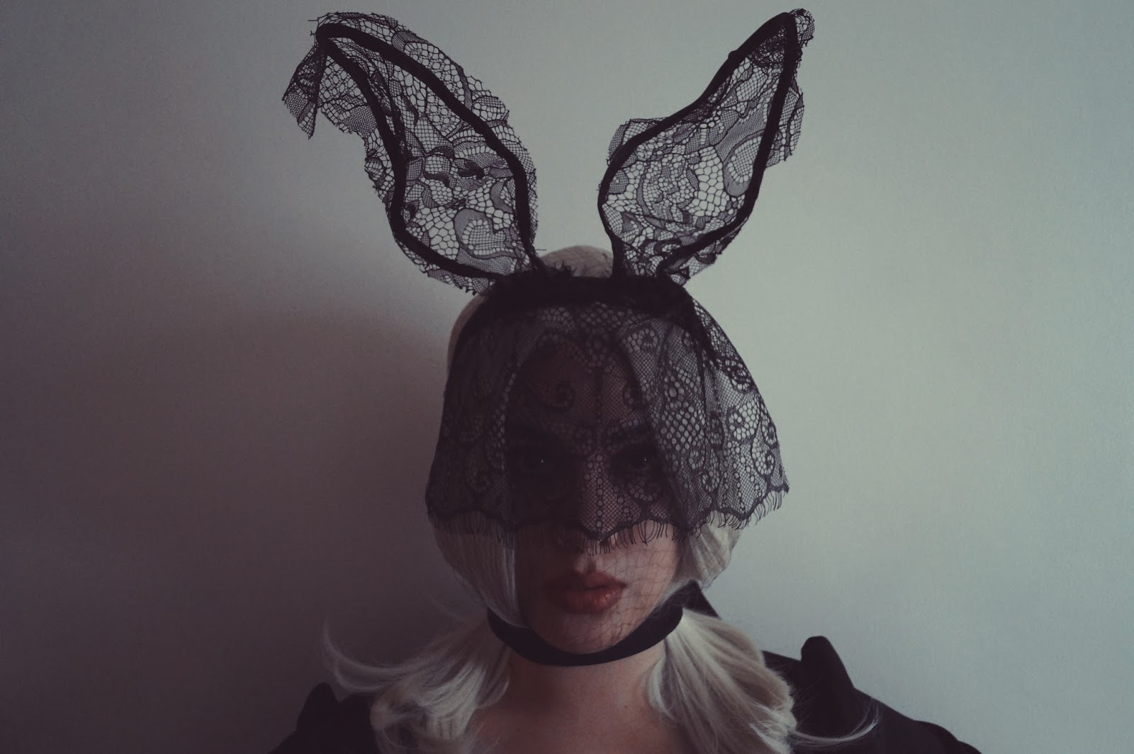 Ana Maddock- The Easter Bunny- Maison Michel, Fever Collection 'Sophia' Wig, Kylie Cosmetics 'Posie K' lip kit