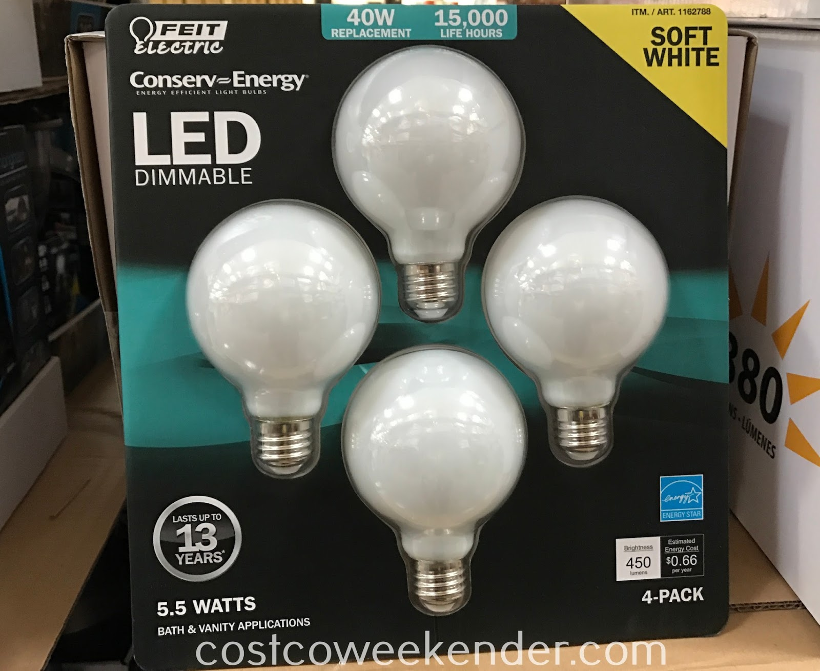 Make sure your home is well lit with Feit Electric Globe Frosted LED Bulbs