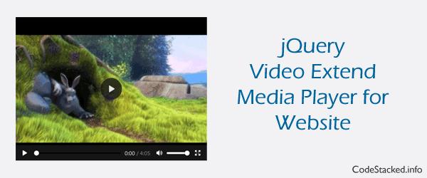 Add Custom Media Player to Website