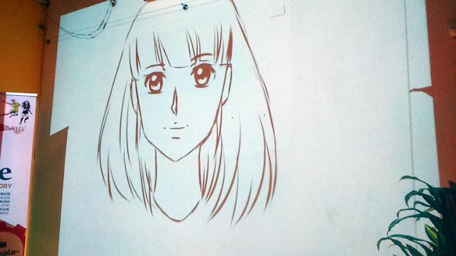 dibujo en proyector