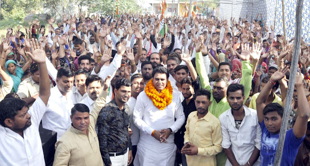 BJP's sankalp padyatra passes by the common people: Lalit Nagar