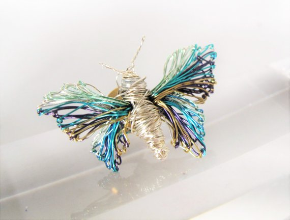 Butterfly brooch, art brooch