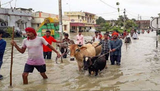 politician-visit-flood-area-in-election