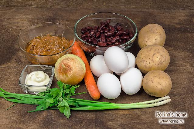Что требуется на слоеный овощной салат: фото