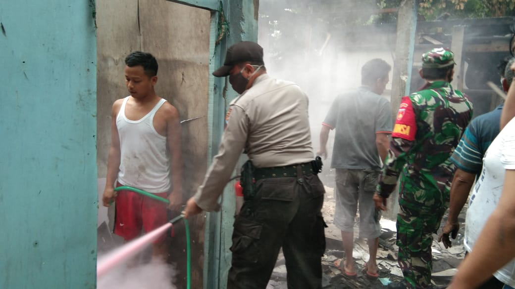 Diduga Korsleting Listrik, Rumah Warga Kejobong Terbakar