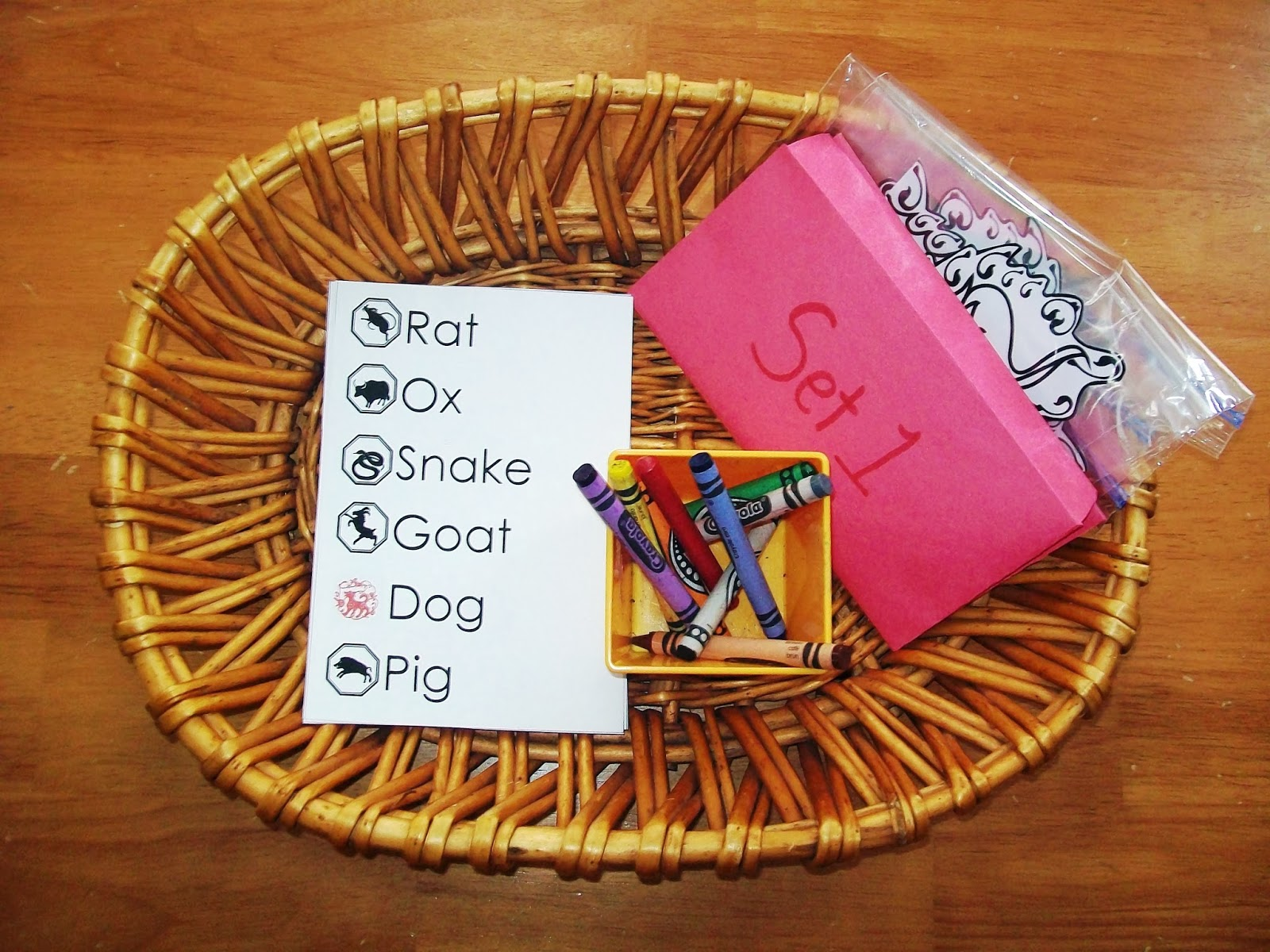 Chinese Zodiac Animal Spelling Activity