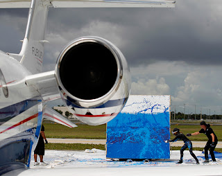 "Airplanista Aviation Blog: When BizAv Meets the Art World: A Princess and Her $11 Million Dollar ""Paintbrush"""
