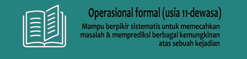 Tahap Operasional Formal (11-16 tahun)