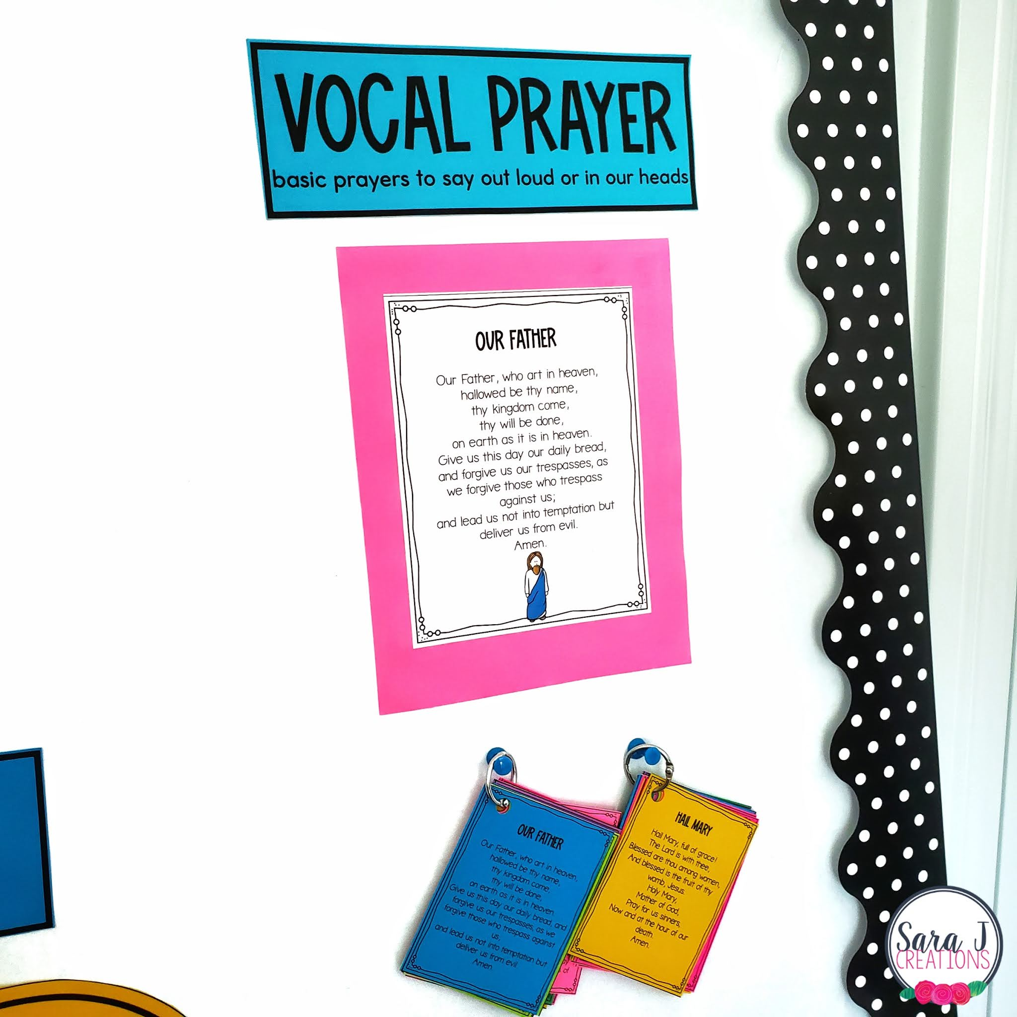 Catholic prayers interactive bulletin board