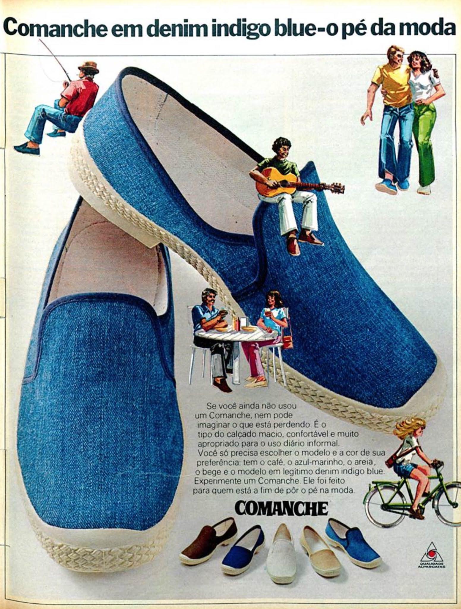 Anúncio de 1977 da Alpargatas promovendo o Calçado Comanche