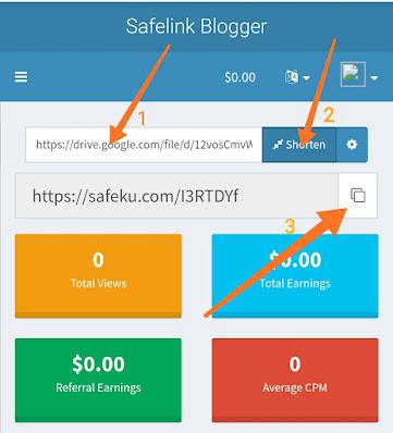 SafelinkBlogger.com - Pemendek URL Dengan Bayaran Tinggi
