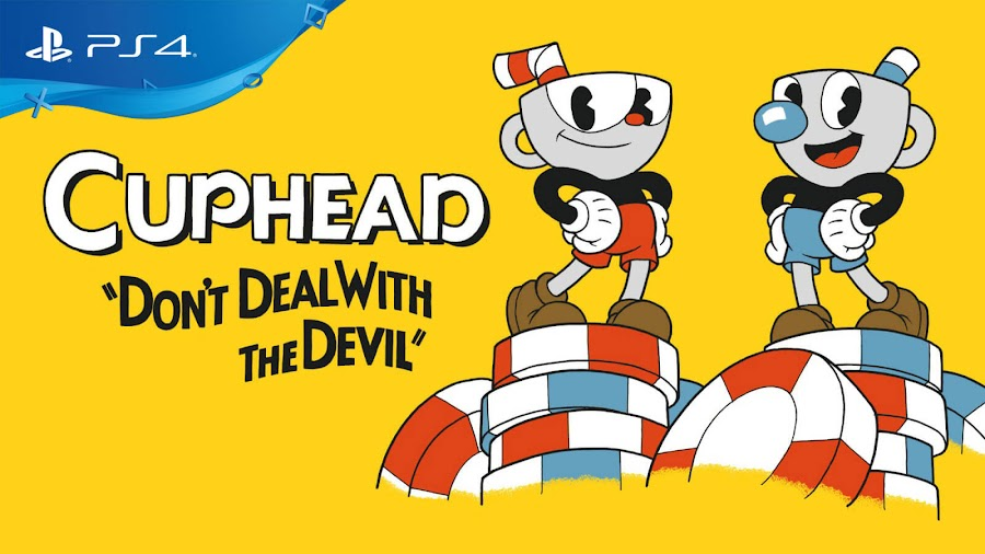 cuphead ps4 playstation network studio mdhr indie run and gun shooter game