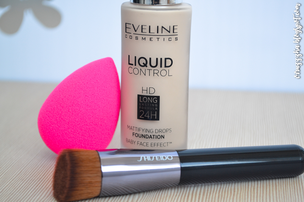 Eveline Cosmetics Liquid Control HD Mattifying Drops Foundation 015 Light Vanilla Review & Swatches