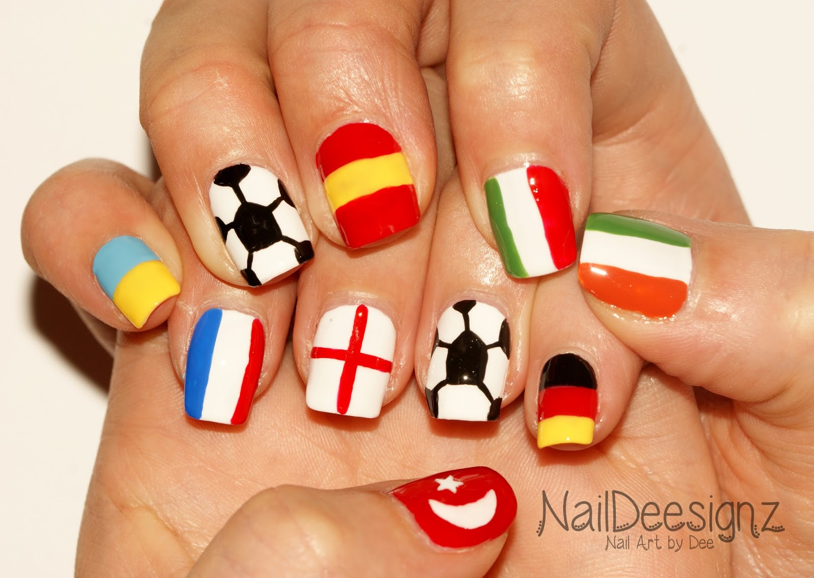 NailDeesignz: Euro 2016 Nail Art