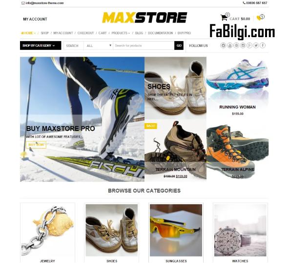 Wordpress Ücretsiz E-ticaret Sitesi Teması İndir 2020 (Max Store)