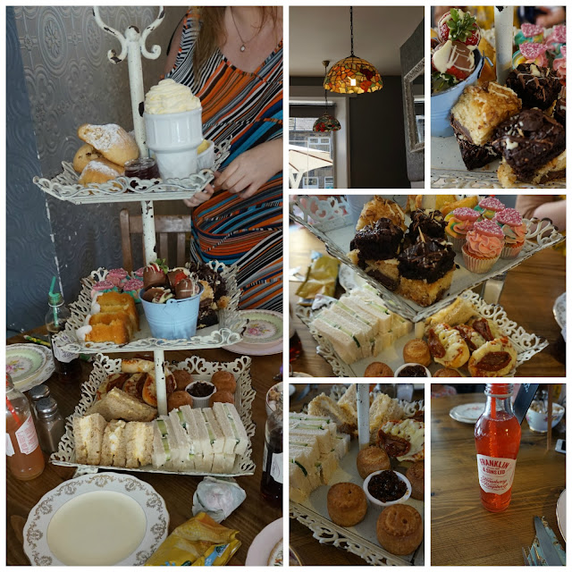 Afternoon tea, Vintage Cupcake Kitchen, Uppermill, Saddleworth