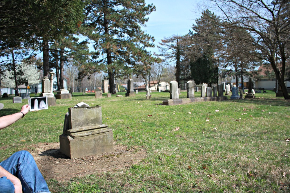 Original photo next to Behnke grave