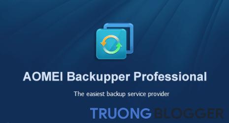 AOMEI Backupper Professional Full - Sao lưu dữ liệu máy tính