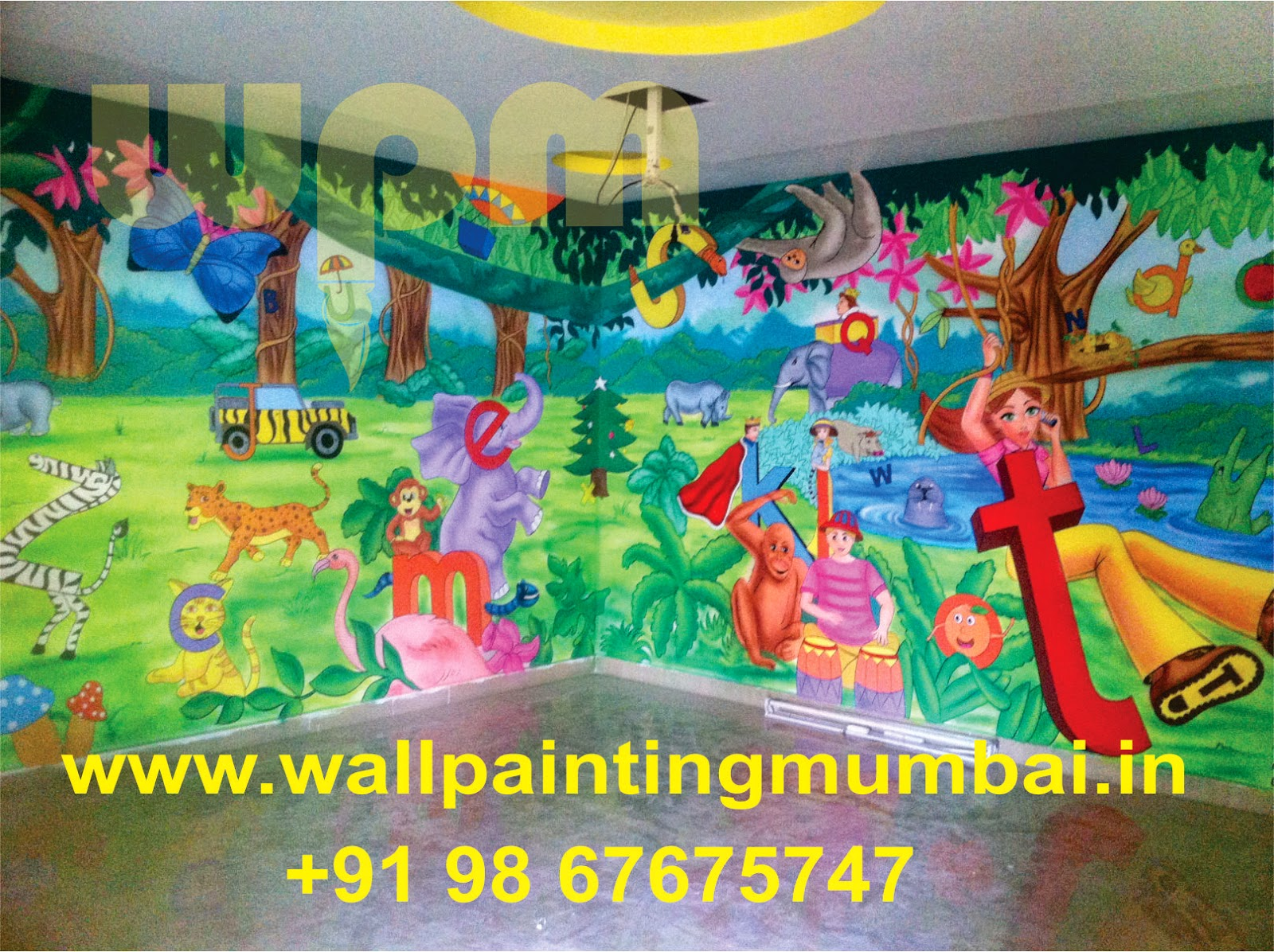 Play School Wall Painting Pre School Classroom Jungle Theme