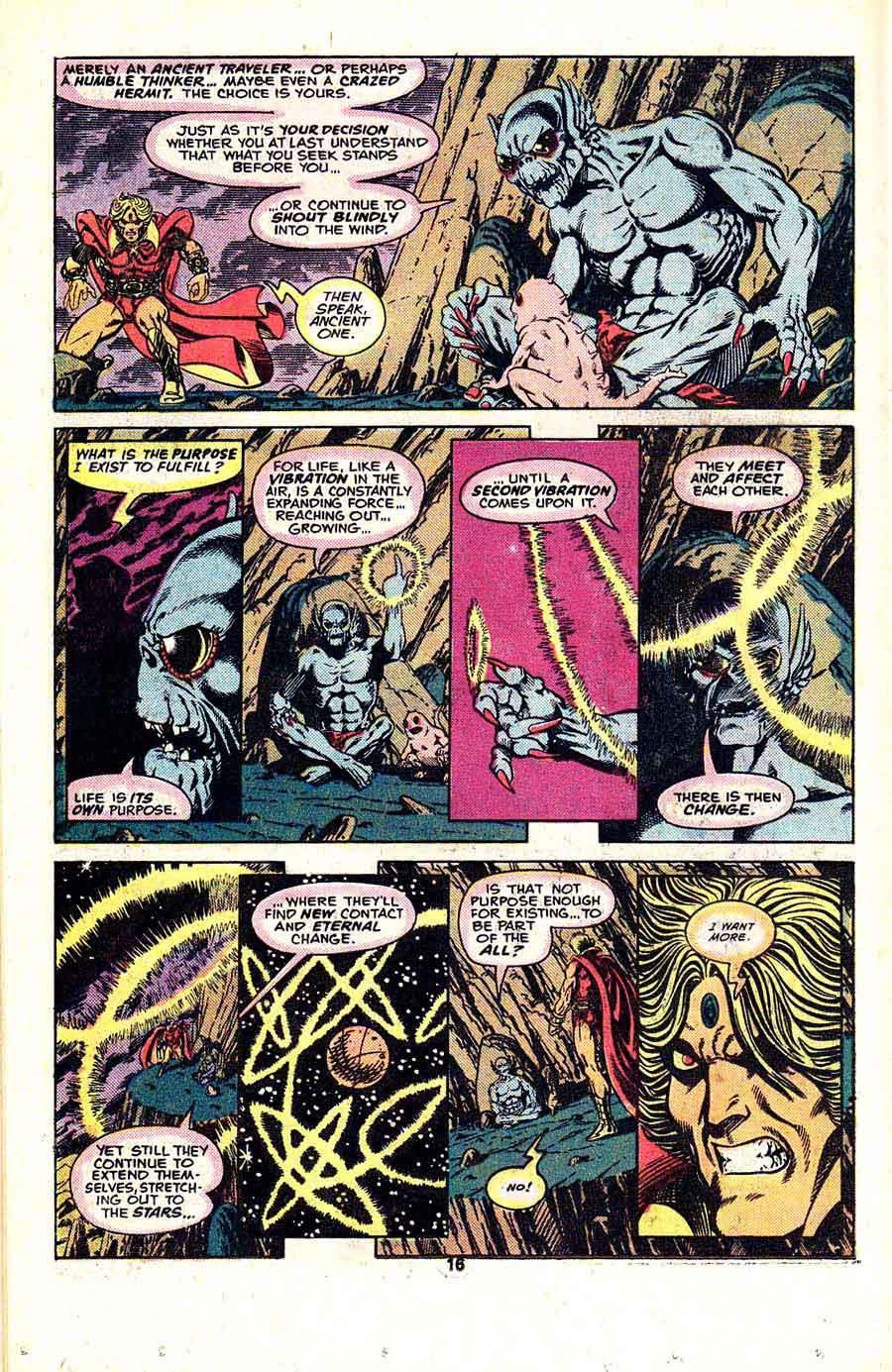 Warlock v1 #15 marvel 1970s bronze age comic book page art by Jim Starlin