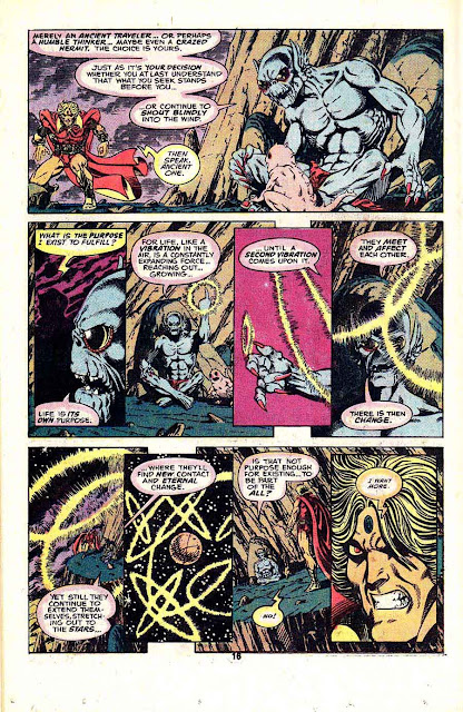 Warlock v1 #15 marvel 1970s bronze age comic book page art by Jim Starlin