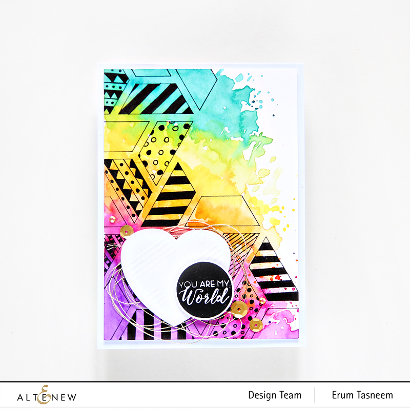 Altenew Colour Block Triangle Stencil | Erum Tasneem | @pr0digy0