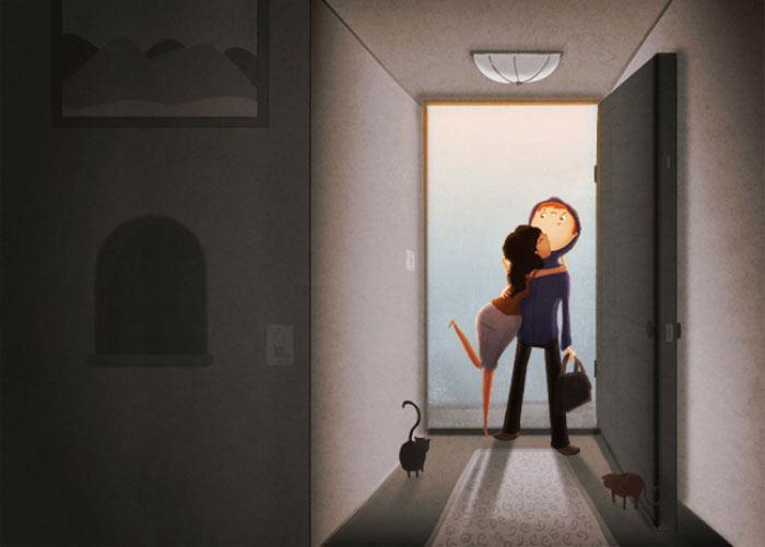 El amor esta en las pequeñas cosas: conmovedoras ilustraciones de Nidhi Chanani