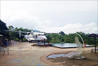 Spot foto dan restoran dalam pesawat di Taman Love Soreang