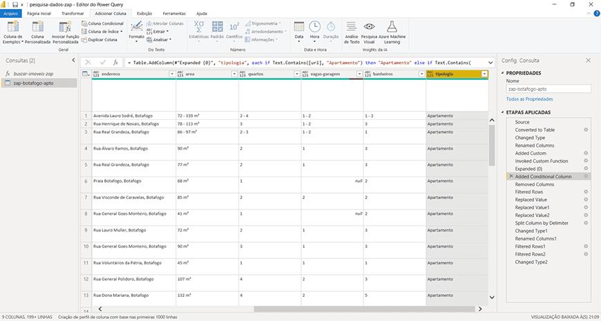 Guia passo a passo tratamento de dados com Power bi - figura 27